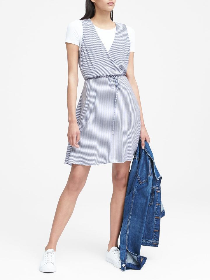 Kadın ince çizgili Çizgili Elbise