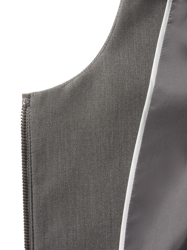 gri Fırıfır Detaylı Ceket