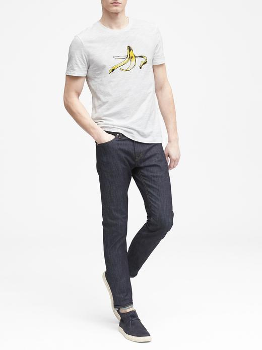 Erkek Beyaz Soft-Wash Baskılı Sıfır Yaka T-Shirt