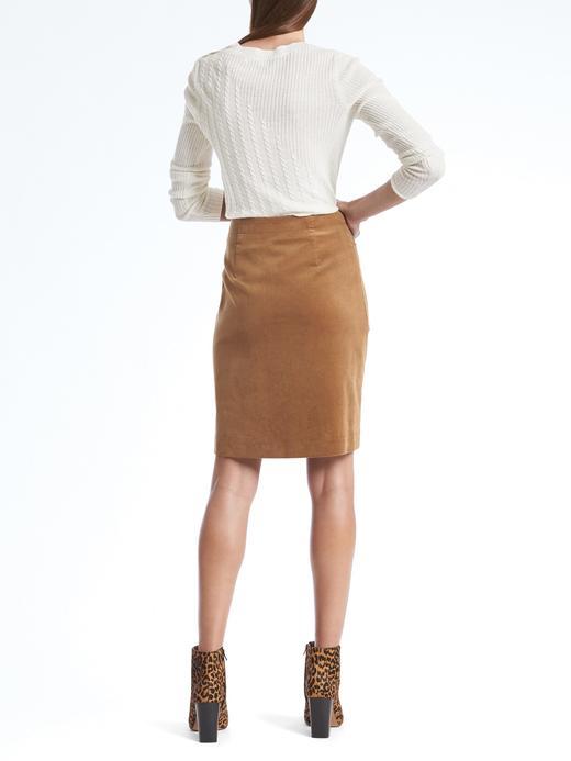 Kadın kahverengi Kadife Etek