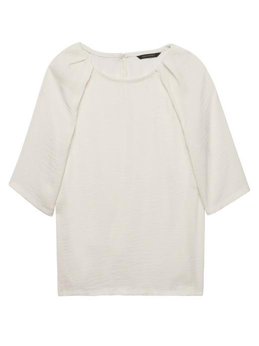 Kısa Kollu Saten Bluz