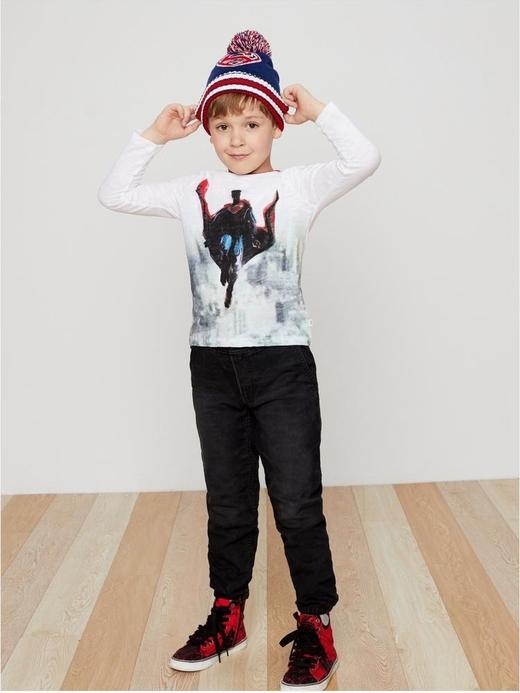 Erkek Çocuk beyaz Gap | DC™ Super Kahraman Desenli Uzun Kollu T-Shirt