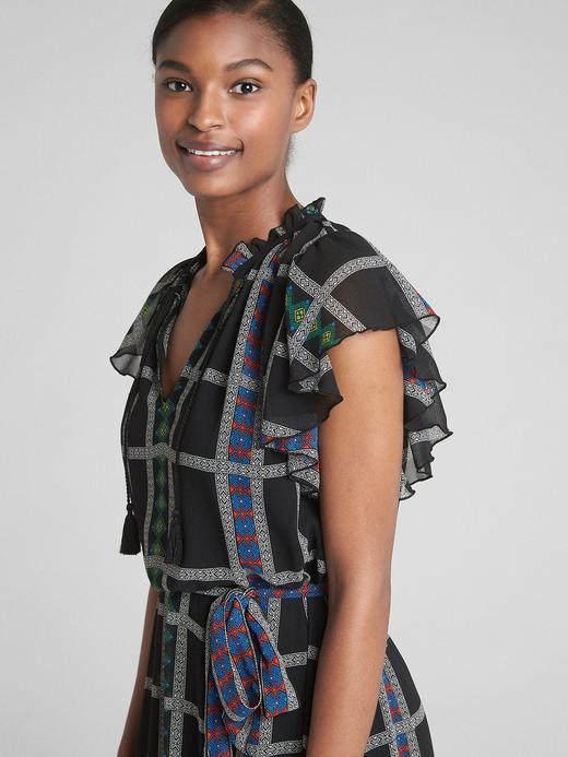 Fırfırlı Midi Elbise