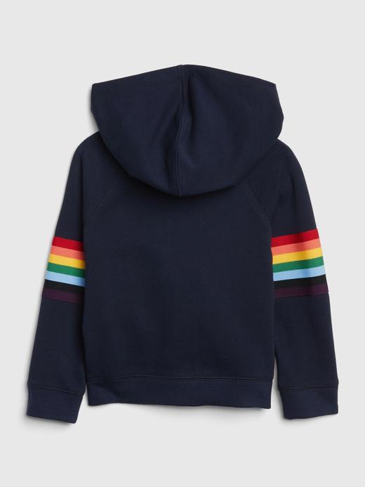 Logolu Gökkuşağı Renkli Sweatshirt