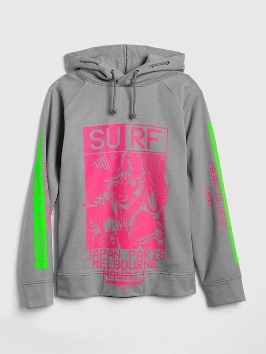 Gap + GQ Surf is Dead Kapüşonlu Sweatshirt