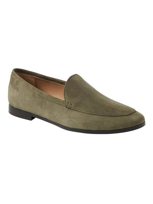 Kadın koyu yeşil Mokasen Ayakkabı