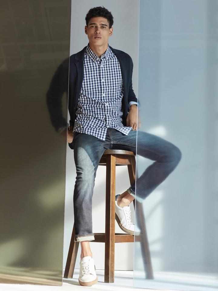 Grant Slim-Fit Poplin Ekose Gömlek