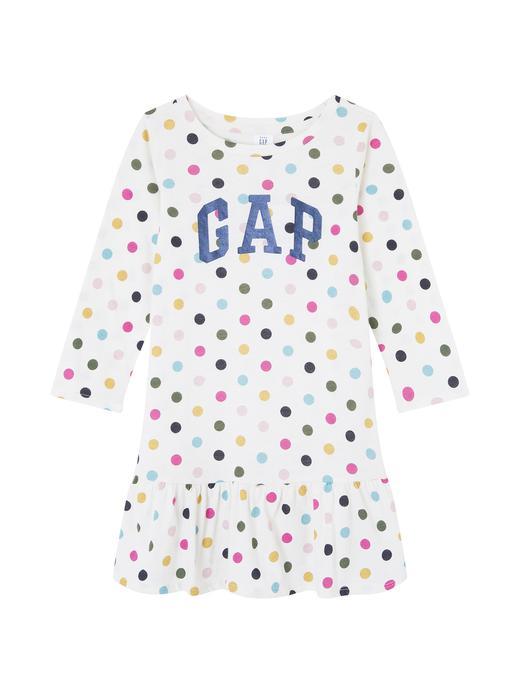 Bebek puantiyeli Puantiyeli Gap Logo Elbise