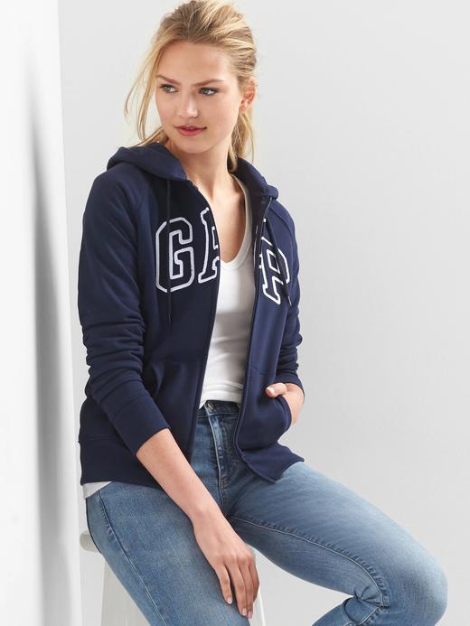 Kadın lacivert Gap Logo Kapüşonlu Sweatshirt