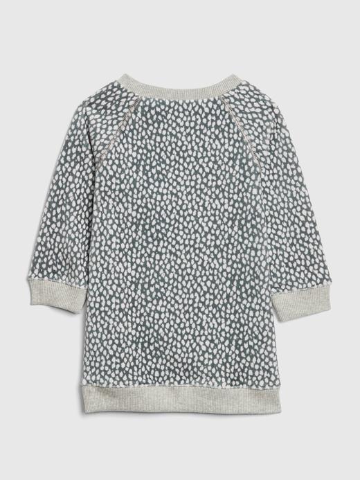Desenli Sweatshirt Elbise