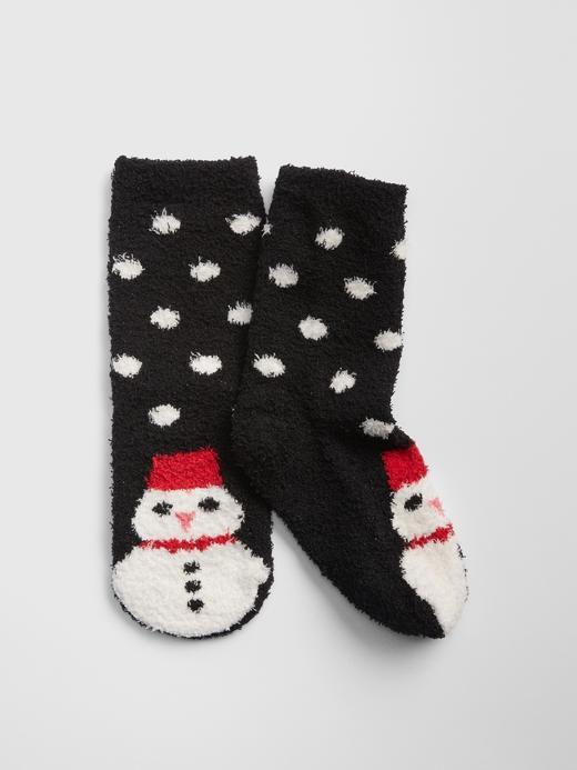 Kız Çocuk kardan adam desenli Kardan Adam Desenli Çorap