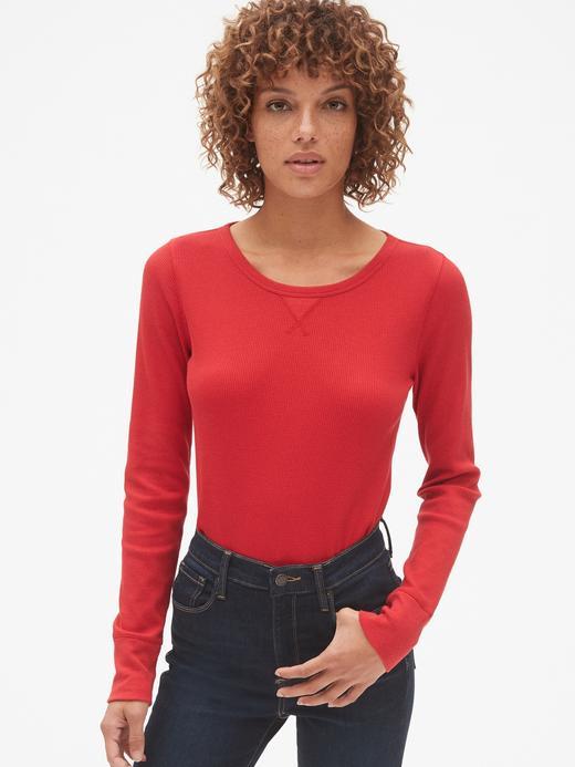 Uzun Kollu Sıfır Yaka Termal T-Shirt