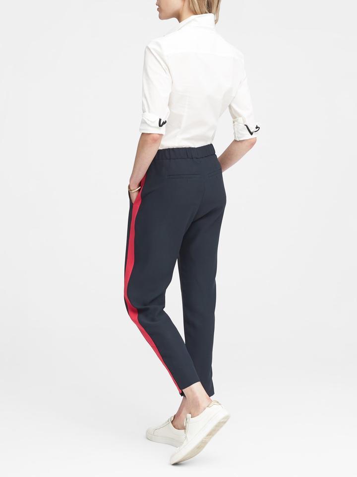 Hayden Tapered-Fit Yanları Çizgili Pantolon