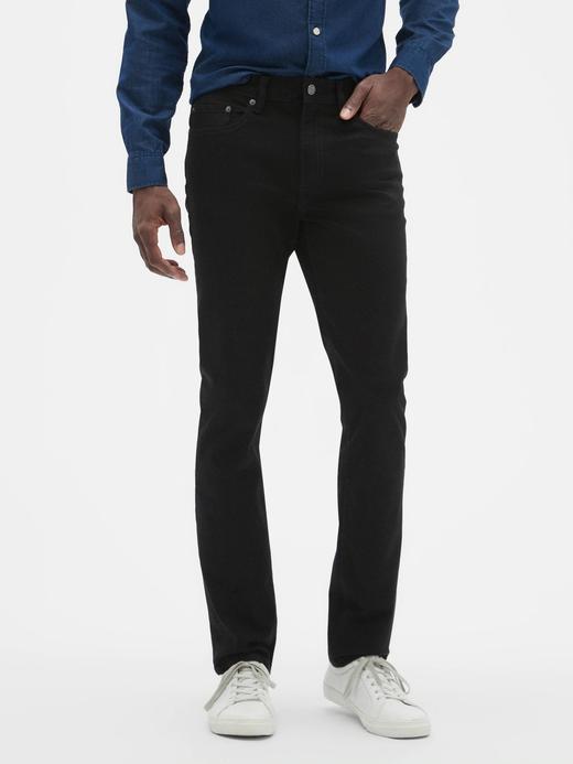 Erkek Siyah GapFlex Skinny Fit Jean Pantolon