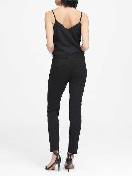Kadın siyah Sloan Skinny-Fit Yanları Pullu Pantolon