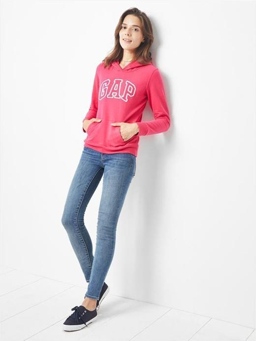 Kadın Pembe Kadın Gap Logo Kapüşonlu Sweatshirt