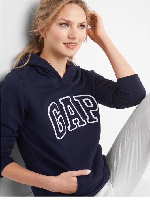 Kadın Lacivert Kadın Gap Logo Kapüşonlu Sweatshirt