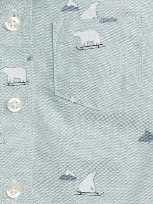 Kutup Ayısı Desenli Uzun Kollu Gömlek