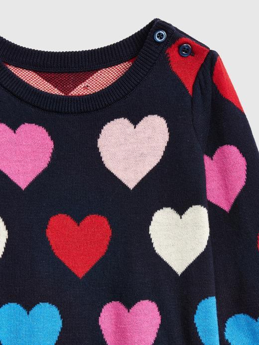 Bebek koyu lacivert Kalp Desenli Tulum
