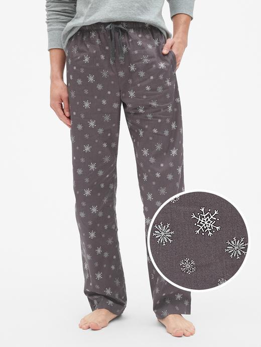 Erkek Gri Desenli Poplin Pijama Altı