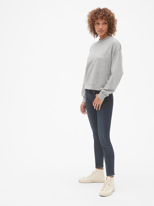 İnci Süslemeli Sweatshirt
