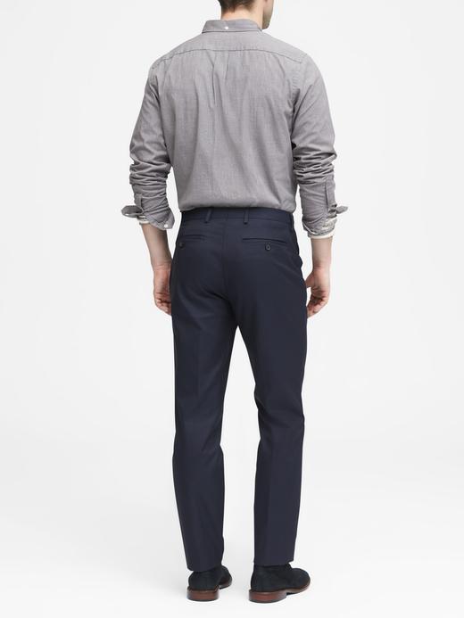 Slim Ütü Gerektirmeyen Pamuklu Streç Pantolon