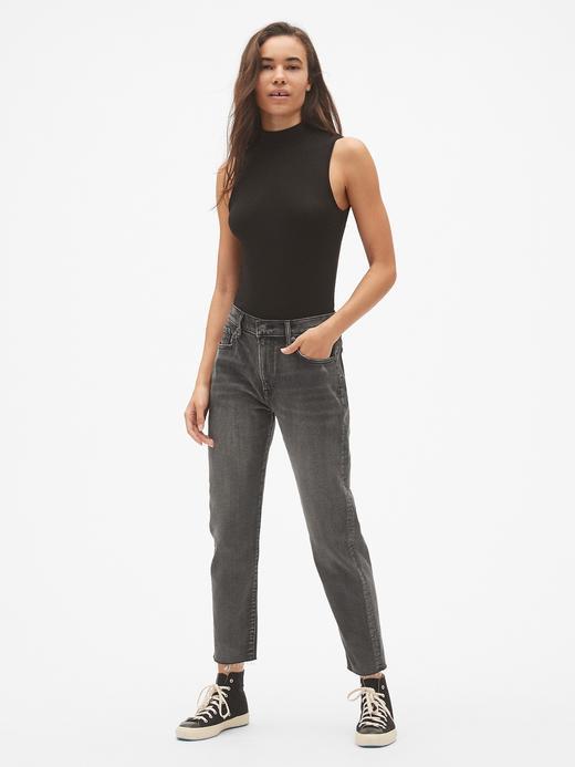 Yüksek Belli Straight Jean Pantolon