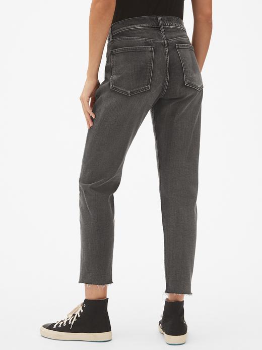 Kadın Siyah Yüksek Belli Straight Jean Pantolon