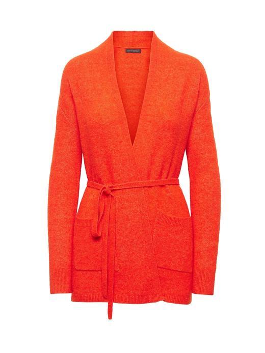 Kadın turuncu Yün Karışımlı Hırka