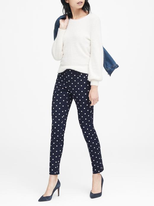 Sloan Skinny-Fit Puantiye Desenli Pantolon
