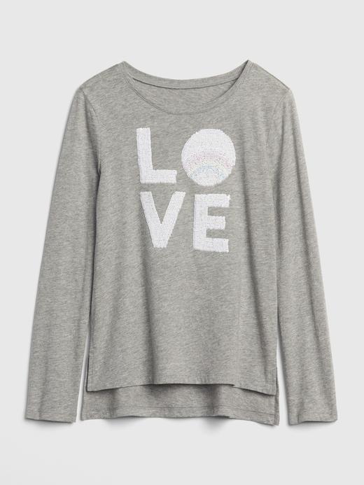 Kız Çocuk koyu pembe Uzun Kollu Baskılı T-Shirt