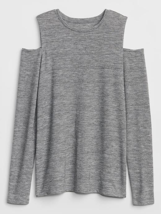 Açık Omuzlu Uzun Kollu T-Shirt