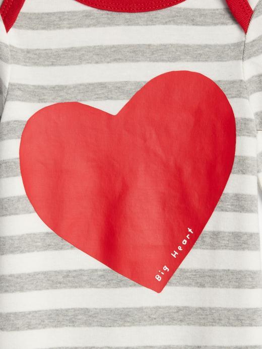 Büyük Kalp Desenli Çizgili Tulum