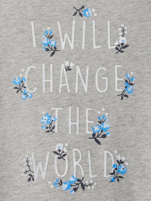 Bebek çiçekli Baskılı Uzun Kollu T-Shirt