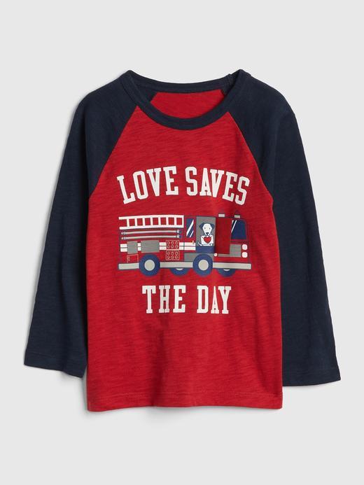 Love Uzun Kollu Baskılı T-Shirt