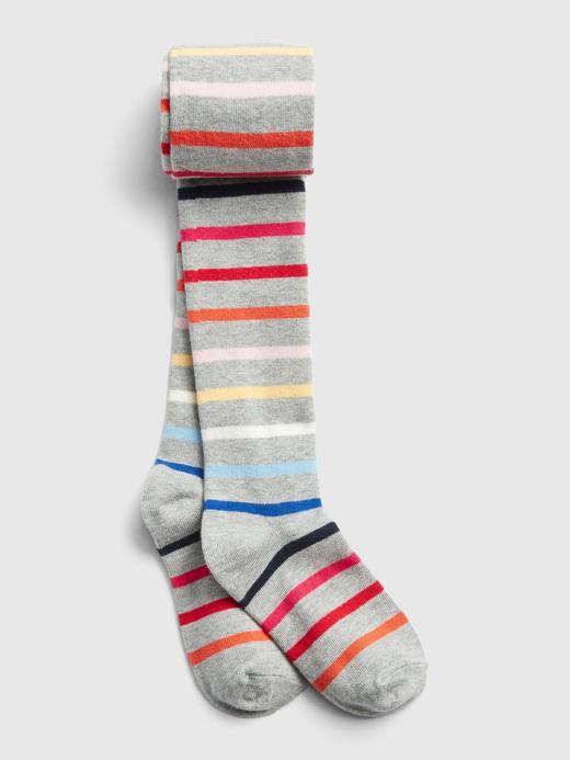 Kız Çocuk çok renkli çizgili Renkli Çizgili Külotlu Çorap