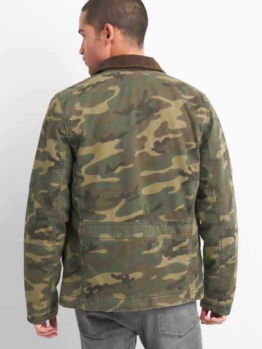 Erkek kamuflaj Kamuflaj Desenli Ceket