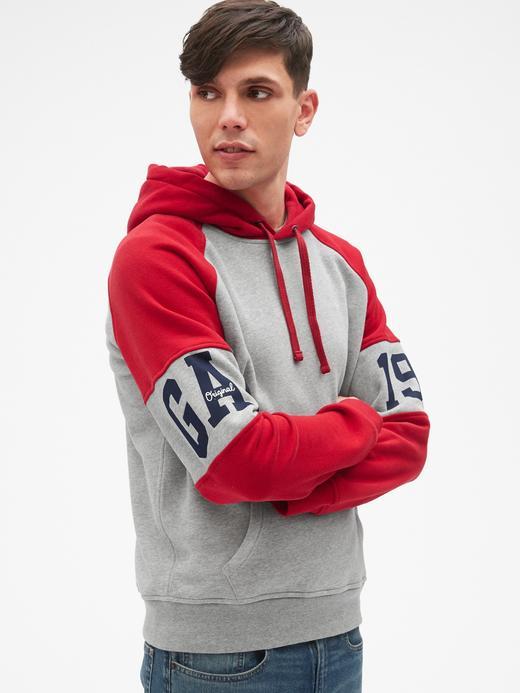 Erkek kırçıllı gri Gap Originals Kapüşonlu Sweatshirt