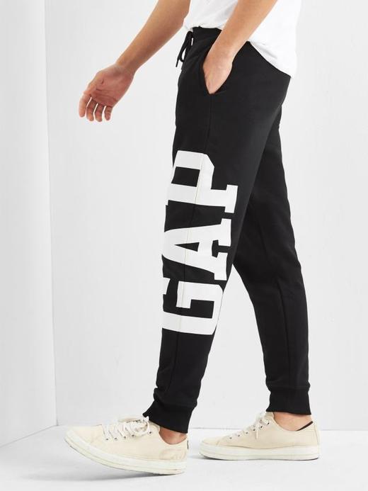 Erkek Siyah Gap Logo Eşofman Altı