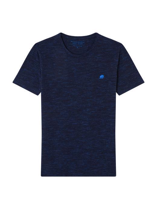 Erkek NAVY Saf Pamuklu Logolu Soft-Wash T-Shirt