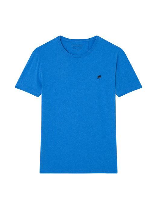 Saf Pamuklu Logolu Soft-Wash T-Shirt