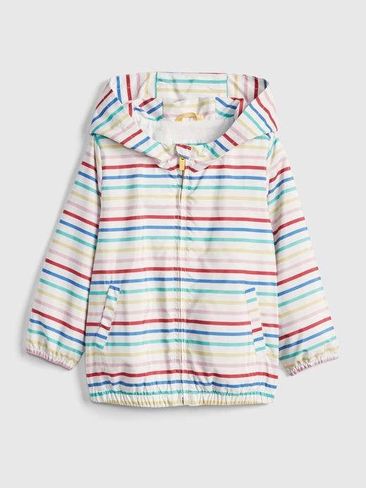 Bebek çok renkli çizgili Desenli Jarse Astarlı Rüzgarlık