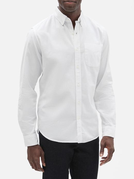 Erkek beyaz Oxford Standart Gömlek