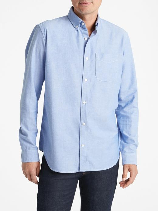 Erkek mavi Oxford Standard Gömlek