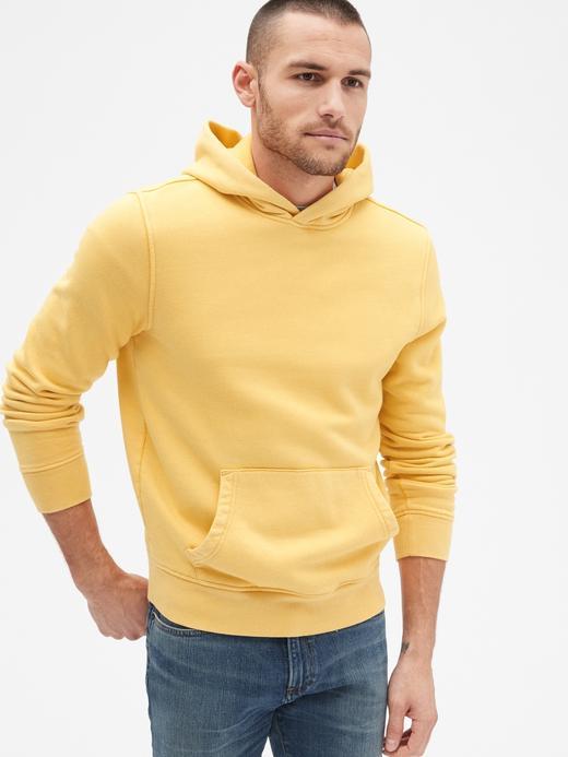 Vintage Yumuşak Dokulu Kapüşonlu Sweatshirt