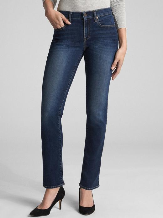 Kadın Lacivert Orta Belli Classic Straight Jean Pantolon