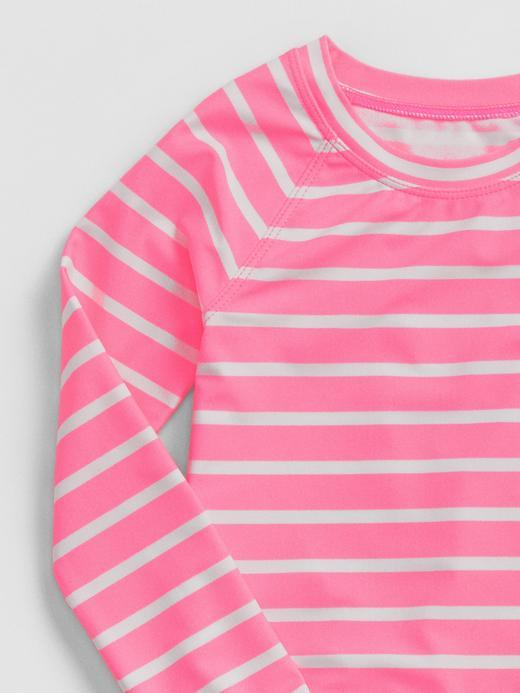 Çizgili ve Puantiyeli T-Shirt Mayo ve Bikini Altı
