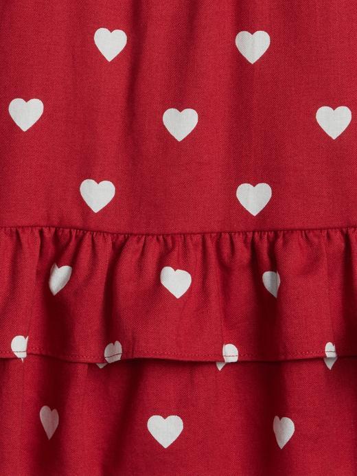 Kalp Desenli Fırfır Detaylı Bluz