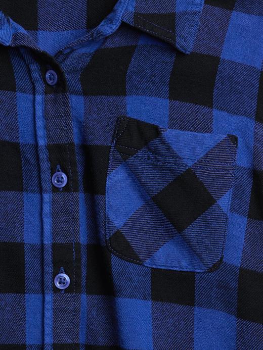 Uzun Kollu Ekose Gömlek