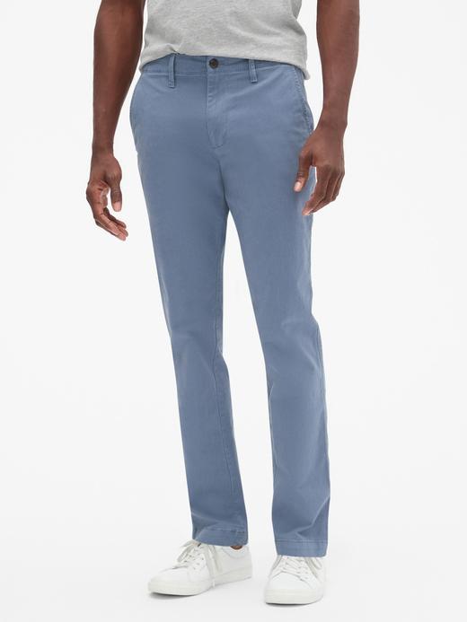 Erkek mavi Slim Fit GapFlex Khaki Pantolon